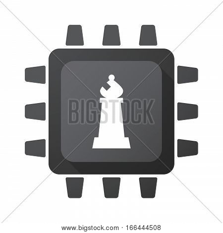 Isolated Chip With A Bishop    Chess Figure