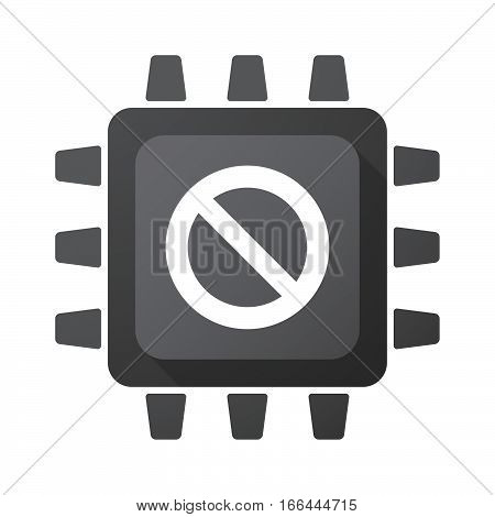 Isolated Chip With  A Forbidden Sign