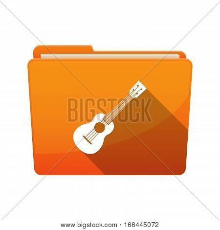 Isolated Folder With  An Ukulele