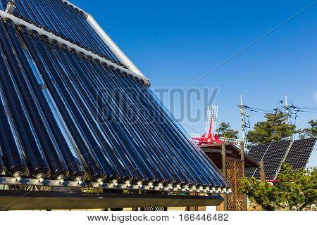 Solar panels, alternative sources of electricity, advanced technology