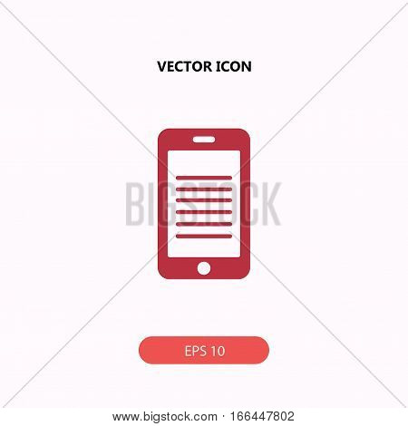 touchpad vector icon isolated on white background