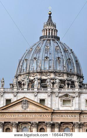 The Dome Of The San Pietro Basilica, Vatican