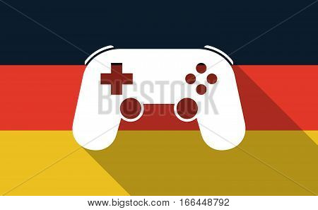 Long Shadow Germany Flag With  A Game Pad