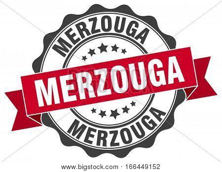 Merzouga. round isolated grunge vintage retro stamp