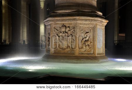 Fountain In The San Pietro Square, Vatican