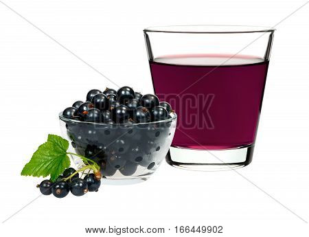 Currant Drink In A Glass With Berries Currants