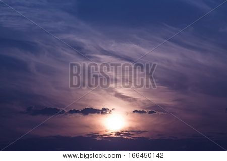 Beautiful sunset and sky stratosphere background, abstract background