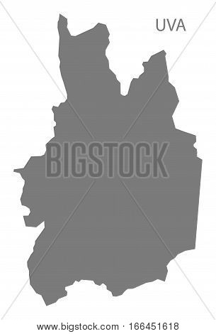 Uva Sri Lanka Map in grey illustration silhouette