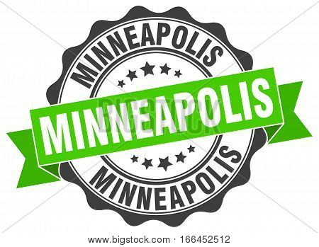 Minneapolis. round isolated grunge vintage retro stamp