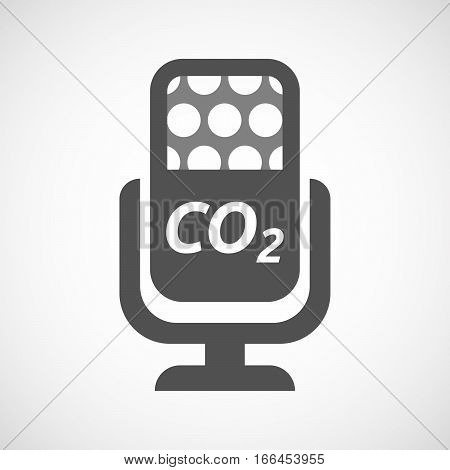 Isolated Mic With    The Text Co2