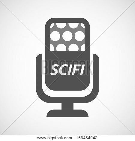 Isolated Mic With    The Text Scifi
