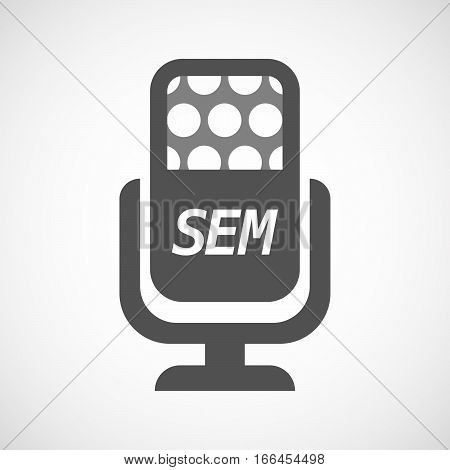 Isolated Mic With    The Text Sem