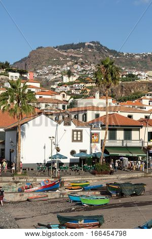 CAMARA DE LOBOS, MADEIRA, PORTUGAL - SEPTEMBER 5, 2016: Camara de Lobos - traditional fishing village situated five kilometres from Funchal on Madeira. Portugal