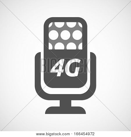 Isolated Mic With    The Text 4G