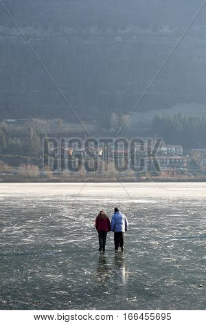 Love in the ice - Lake Endine - Bergamo - Lombardy - Italy