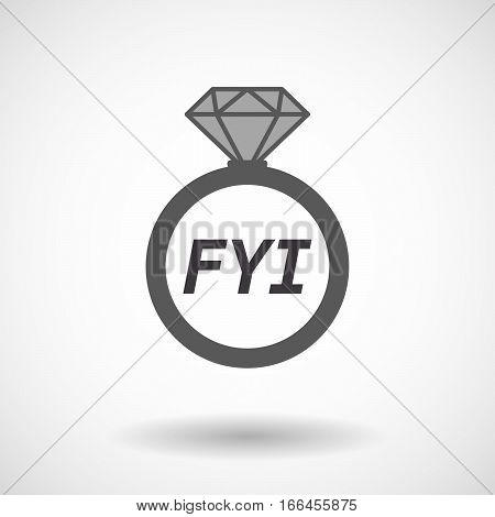 Isolated Ring With    The Text Fyi