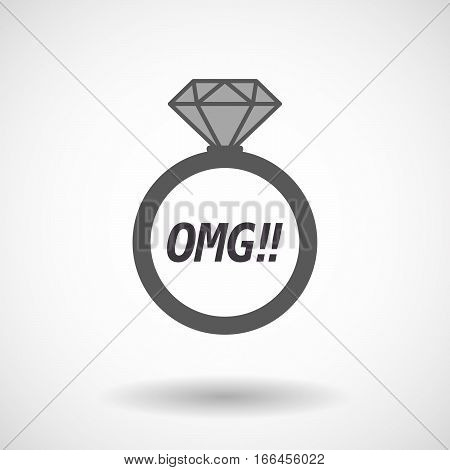 Isolated Ring With    The Text Omg!!