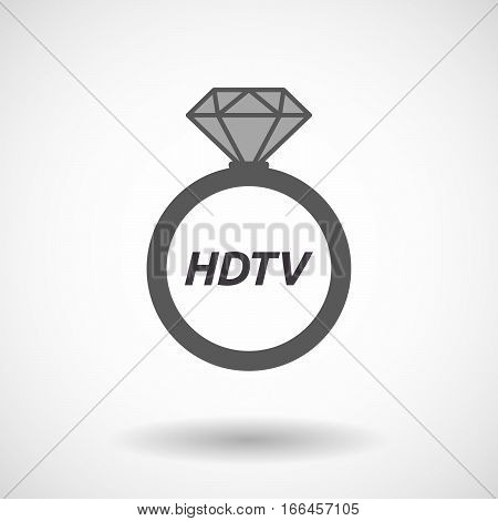 Isolated Ring With    The Text Hdtv