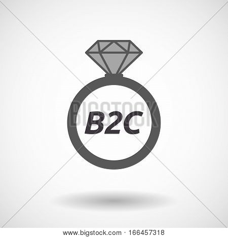 Isolated Ring With    The Text B2C