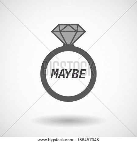 Isolated Ring With    The Text Maybe