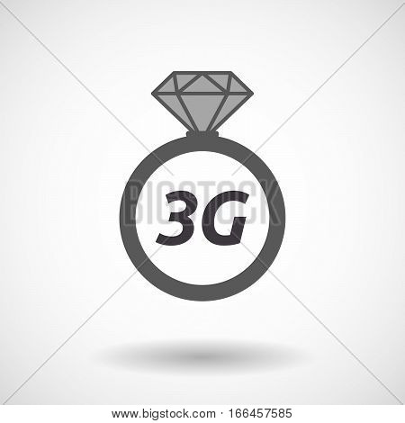 Isolated Ring With    The Text 3G