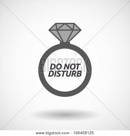 Isolated Ring With    The Text Do Not Disturb