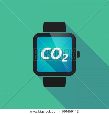Long Shadow Smart Watch With    The Text Co2
