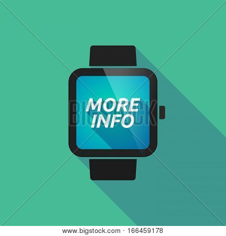 Long Shadow Smart Watch With    The Text More Info