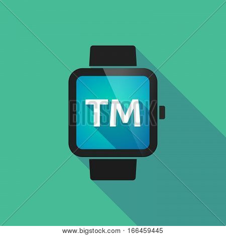 Long Shadow Smart Watch With    The Text Tm