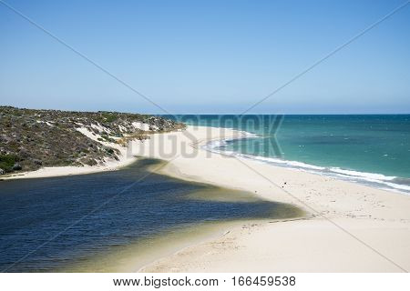 A Close View Of Moore River Ocean Beach