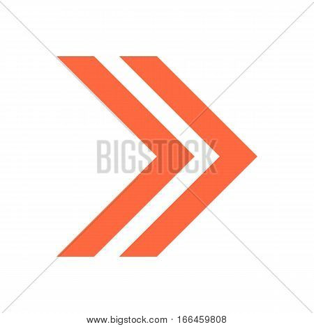 Arrow Icon Direction Button Pointer Sign Flat