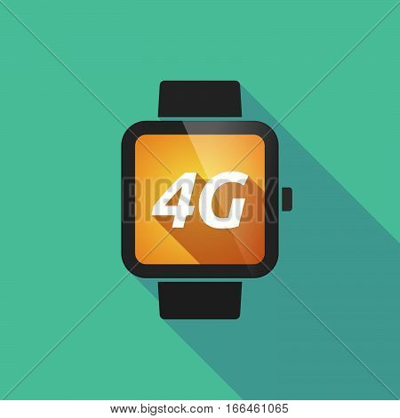 Long Shadow Smart Watch With    The Text 4G