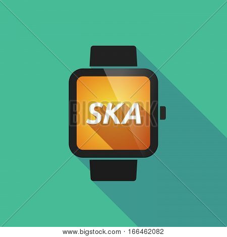 Long Shadow Smart Watch With    The Text Ska