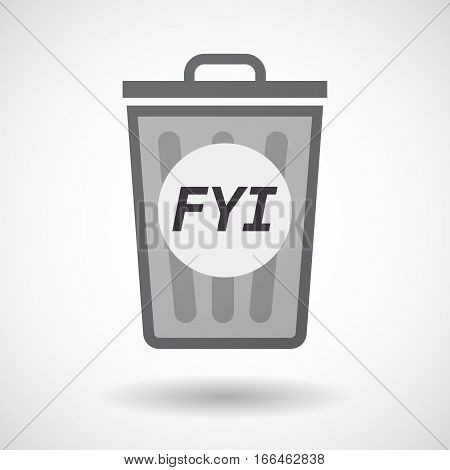 Isolated Trashcan With    The Text Fyi