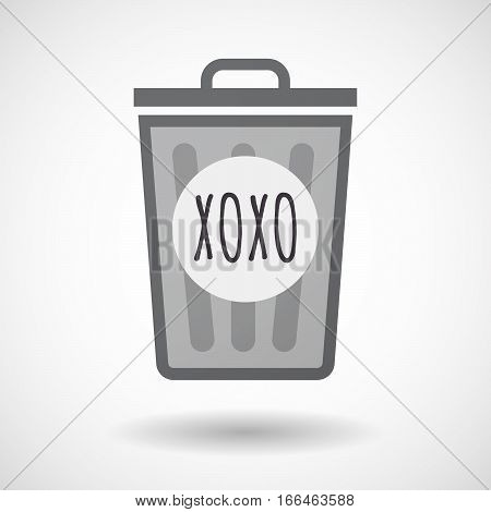 Isolated Trashcan With    The Text Xoxo
