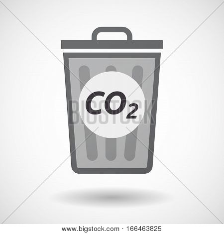Isolated Trashcan With    The Text Co2