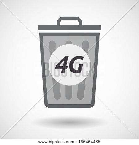 Isolated Trashcan With    The Text 4G