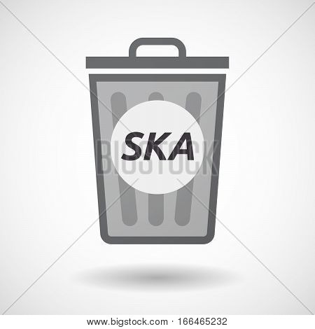 Isolated Trashcan With    The Text Ska