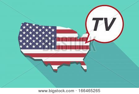 Long Shadow Usa Map With    The Text Tv