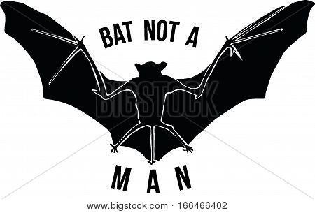 bat not a mans and not a super heros