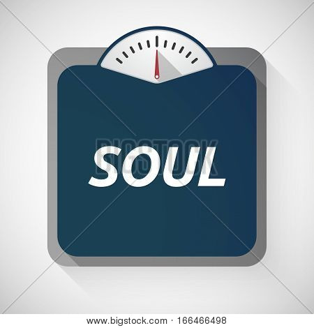 Isolated Weight Scale With    The Text Soul