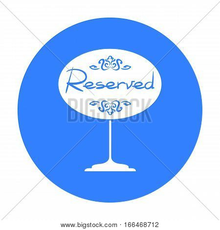 Restaurant golden reserved sign icon in black style isolated on white background. Restaurant symbol vector illustration. - stock vector