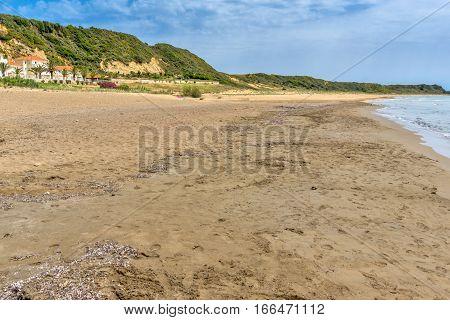 Panorama of Kamina beach in Kefalonia, Ionian Islands, Greece