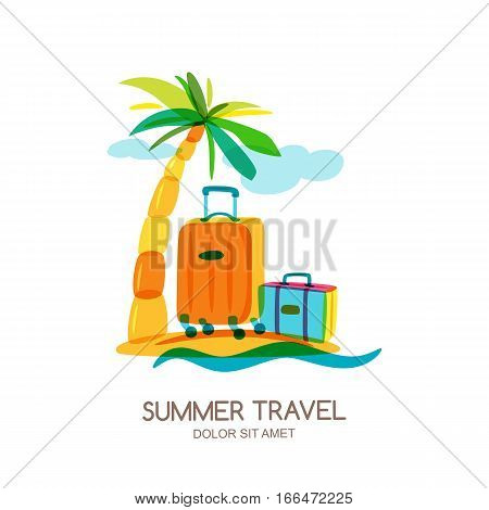 Travel And Tourism Concept. Vector Doodle Isolated Illustration. Trendy Flat Design For Summer Vacat