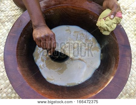 Traditional Kava Drink The National Drink Of Fiji