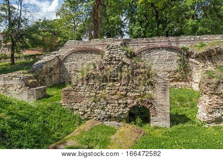 Ruins of the builings in the ancient Roman city of Diokletianopolis, town of Hisarya, Plovdiv Region, Bulgaria