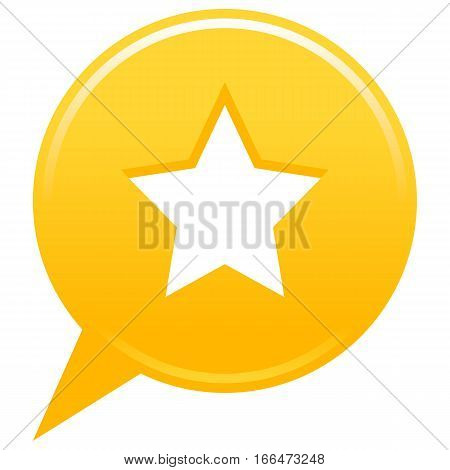 Yellow Map Pin Favorite Icon White Star Sign