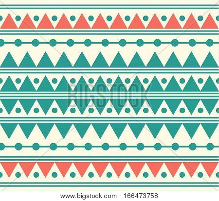 Vector Tribal Ethnic Abstract Pattern Illustration Background
