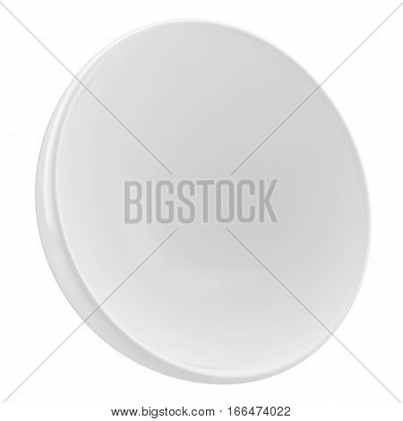 Mock-up empty clean showcase. Inside hemisphere. Place for products or objects. White background. Advertising template. 3D Illustration