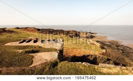 Ancient Stone Graves, Heysham, Lancashire, Uk